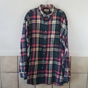 Vintage Men's LL bean flannel Made in the USA XXL